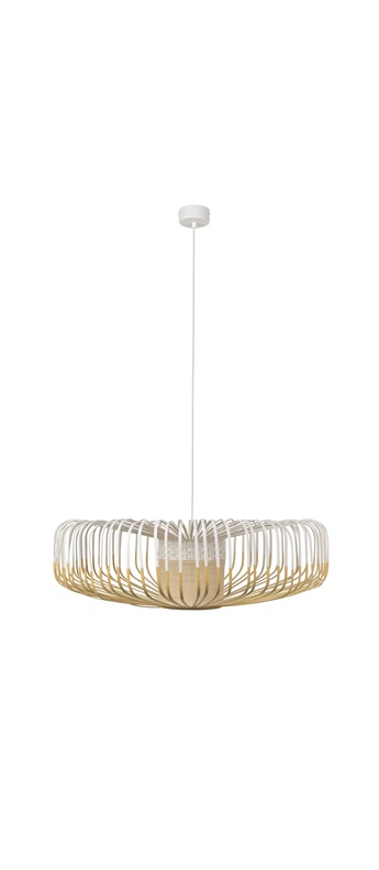 Suspension bamboo up xxl blanc o80cm h26cm forestier normal