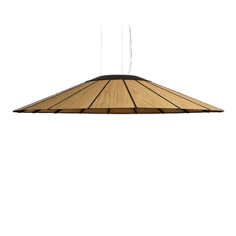 Suspension banga sg cerisier naturel led o120cm h20cm lzf normal