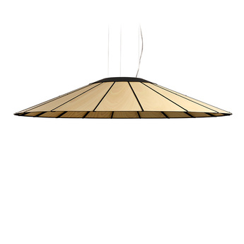 Suspension banga sg hetre naturel led o120cm h20cm lzf normal