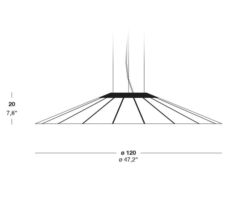 Banga sg yonoh estudio creativo suspension pendant light  lzf dark bnga sg led dim0 10v 24  design signed 38075 product