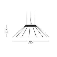 Banga sm yonoh estudio creativo suspension pendant light  lzf dark bnga sm led dim0 10v 20  design signed 38088 thumb
