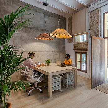Suspension banga sm cerisier naturel led o90cm h30cm lzf normal