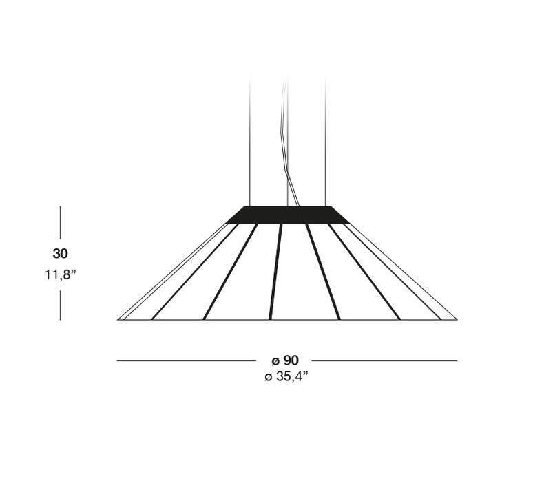 Banga sm yonoh estudio creativo suspension pendant light  lzf dark bnga sm led dim0 10v 22  design signed 38092 product