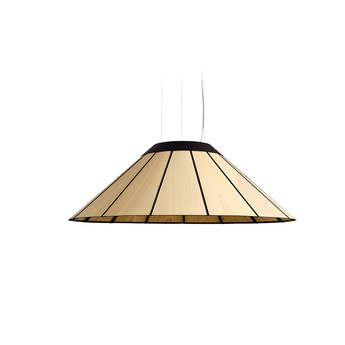 Suspension banga sm hetre naturel led o90cm h30cm lzf normal