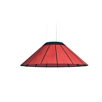 Suspension banga sm rouge led o90cm h30cm lzf normal