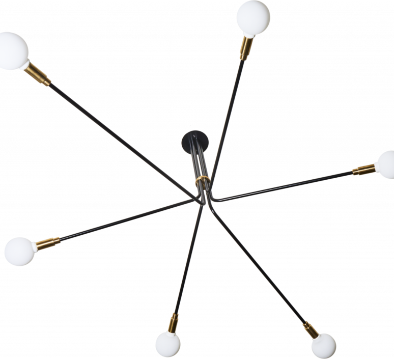 Baronne 6 bras daniel gallo suspension pendant light  daniel gallo baronne 6 bras  design signed 59541 product