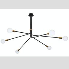 Baronne 6 bras daniel gallo suspension pendant light  daniel gallo baronne 6 bras  design signed 59542 thumb