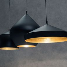 Beat black trio linear pendant system tom dixon suspension pendant light  tom dixon blps04 peum1  design signed 36763 thumb