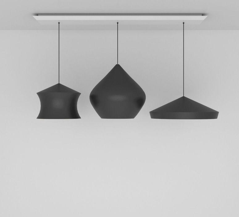 Beat black trio linear pendant system tom dixon suspension pendant light  tom dixon blps04 peum1  design signed 36764 product