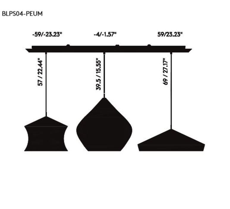Beat black trio linear pendant system tom dixon suspension pendant light  tom dixon blps04 peum1  design signed 36767 product