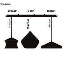Beat black trio linear pendant system tom dixon suspension pendant light  tom dixon blps04 peum1  design signed 36767 thumb