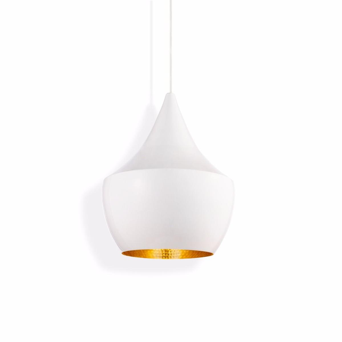 tom dixon style lighting. Pendant Light, Beat Fat, White \u0026 Brass, H30cm, Ø24cm - Tom Dixon Nedgis Lighting Style
