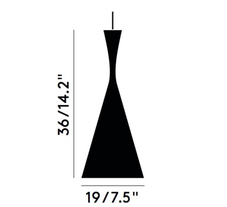 Beat tall tom dixon suspension pendant light  tom dixon bls03wh peum2   design signed 33911 product