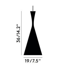 Beat tall tom dixon suspension pendant light  tom dixon bls03wh peum2   design signed 33911 thumb