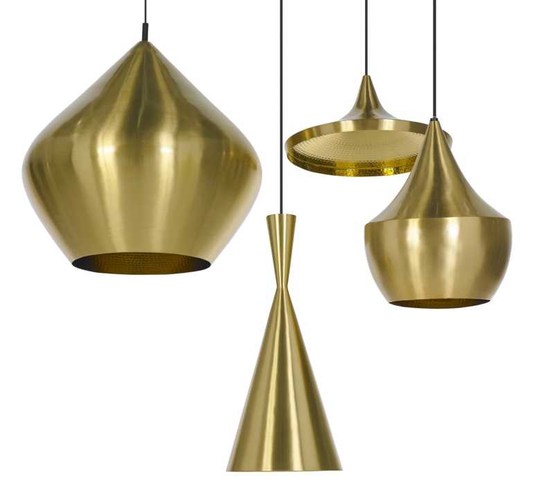 Pendant light, Beat Fat, brass, H30cm, Ø24cm - Tom Dixon - Nedgis ...