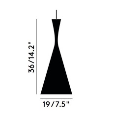 Beat tall tom dixon suspension pendant light  tom dixon bls03b peum2   design signed 33918 thumb