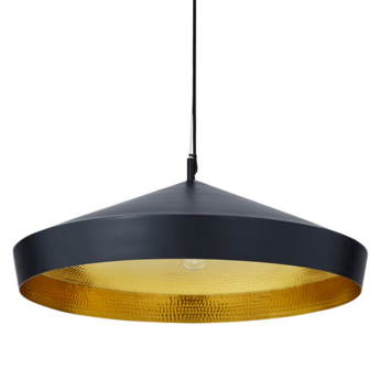 Suspension beat flat noir et laiton o33cm tom dixon normal