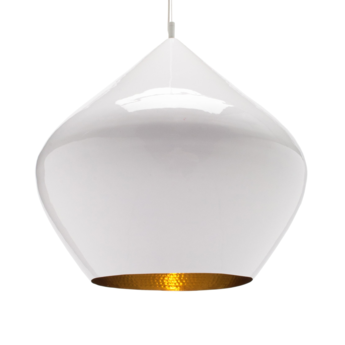 Suspension beat stout blanc et laiton o52 h50cm tom dixon normal