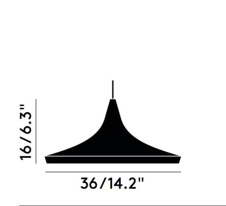 Beat wide tom dixon suspension pendant light  tom dixon bls01wh peum2   design signed 33935 product