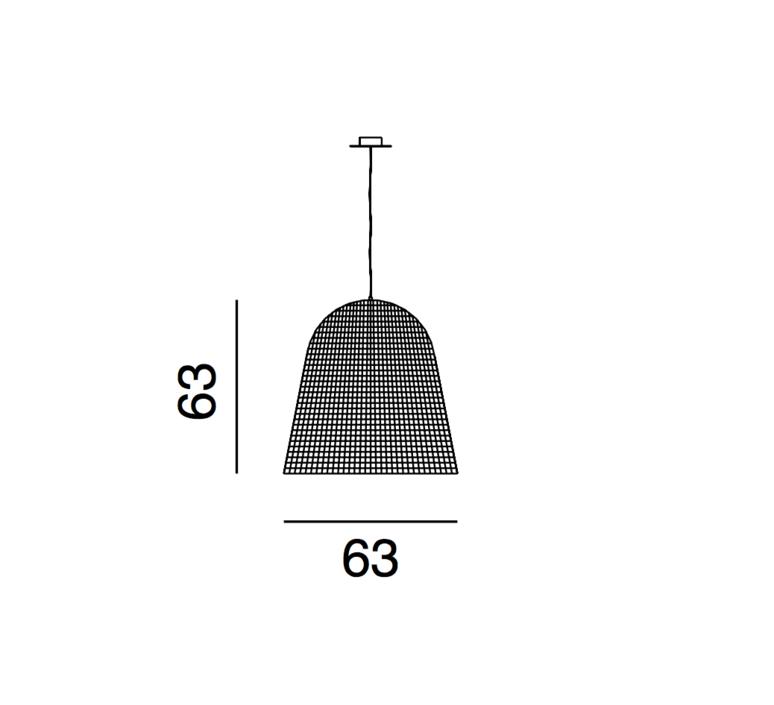 Bell 95 jasper startup suspension pendant light  gervasoni bell95 nero  design signed 36288 product