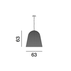 Bell 95 jasper startup suspension pendant light  gervasoni bell95 nero  design signed 36288 thumb