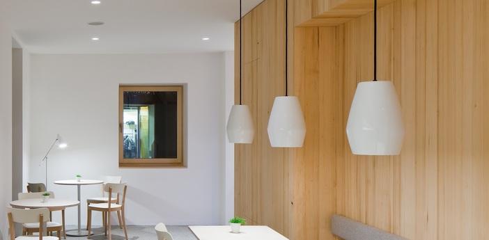 Suspension bell blanc h28cm northern lighting normal