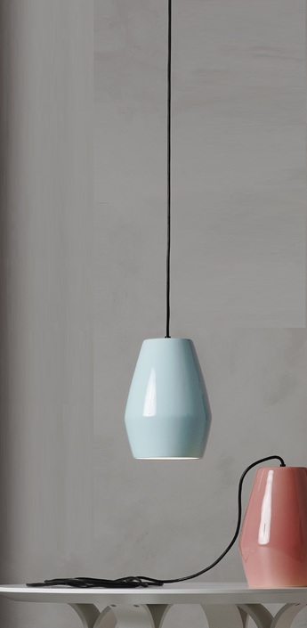 Suspension bell bleu h28cm northern lighting normal