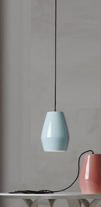 Suspension bell bleu h28cm northern lighting normal