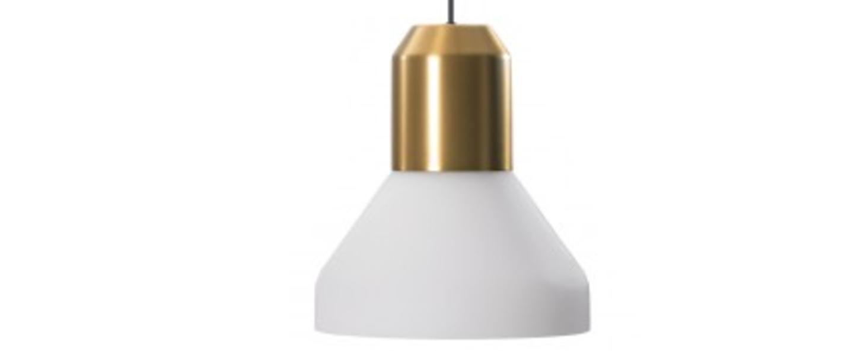 Suspension bell brass white blanc laiton h41cm classicon normal