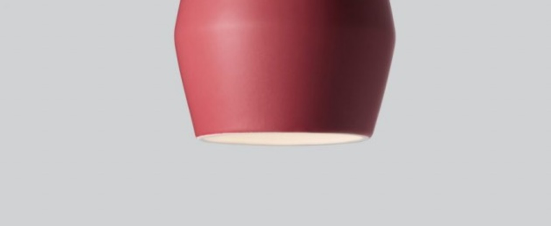 Suspension bell burgundy matt rouge h28cm northern lighting normal