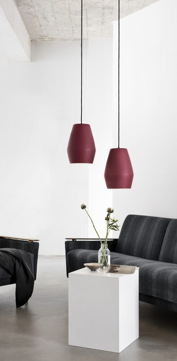 Suspension bell burgundy matt rouge h28cm northern lighting normal