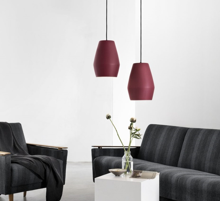 Bell burgundy matt mark braun northern lighting  bell burbundy luminaire lighting design signed 28889 product