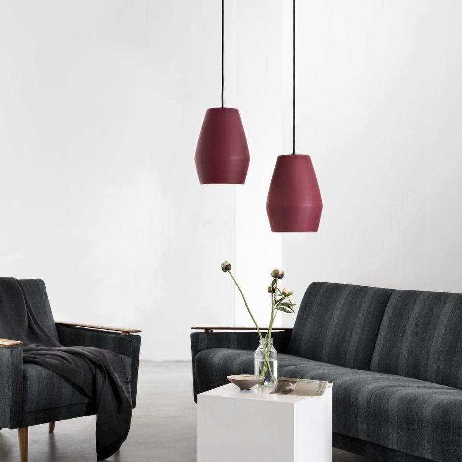 suspension bell burgundy matt rouge h28cm northern luminaires nedgis. Black Bedroom Furniture Sets. Home Design Ideas