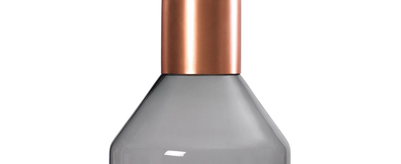 Suspension bell copper verre fume h41cm classicon normal