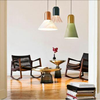 Suspension bell copper white blanc cuivre o45cm classicon normal