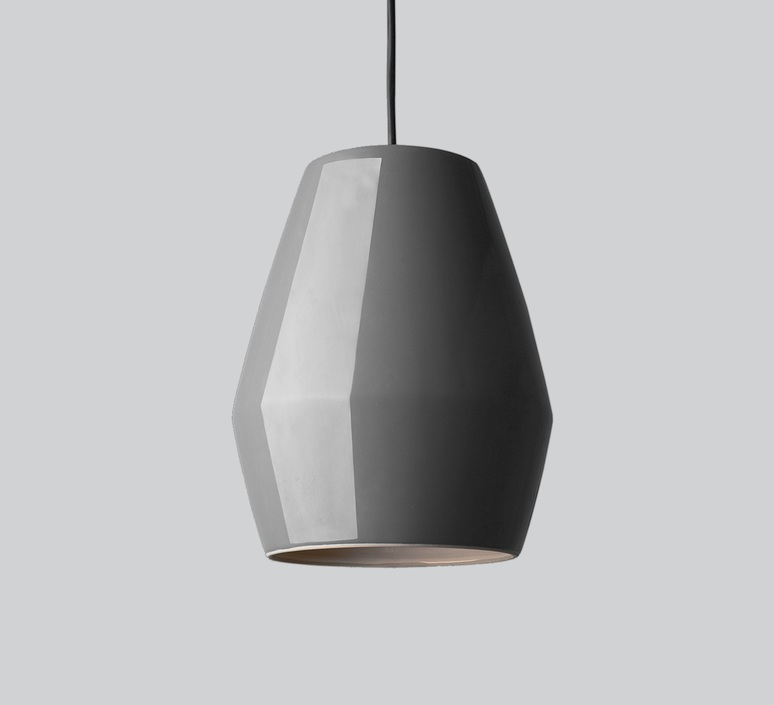 Suspension bell gris h28cm northern lighting for Suspension luminaire gris