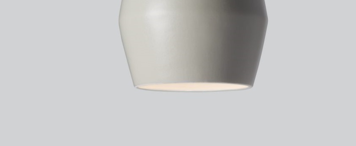 Suspension bell light grey matt gris h28cm northern lighting normal