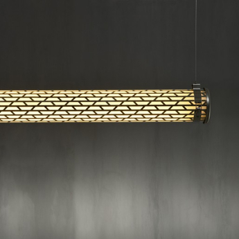 Suspension belleville argent led 2700 l130cm hcm sammode normal