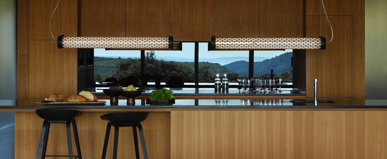 Suspension belleville marron led l130cm hcm sammode normal