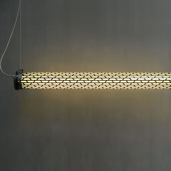 Suspension belleville marron led l130cm hcm sammode normal