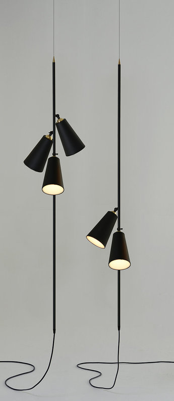 Suspension bells floor pendant noir led o30cm h150cm nir meiri normal