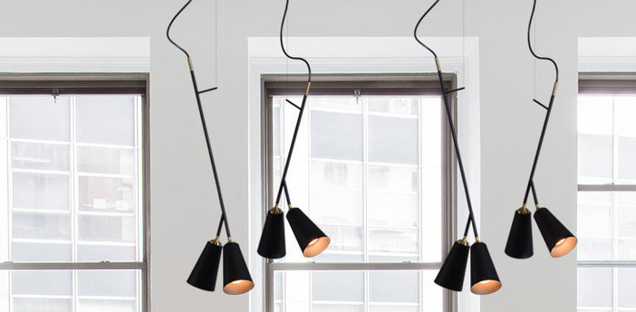 Suspension bells pendant noir led l15cm h60cm nir meiri normal