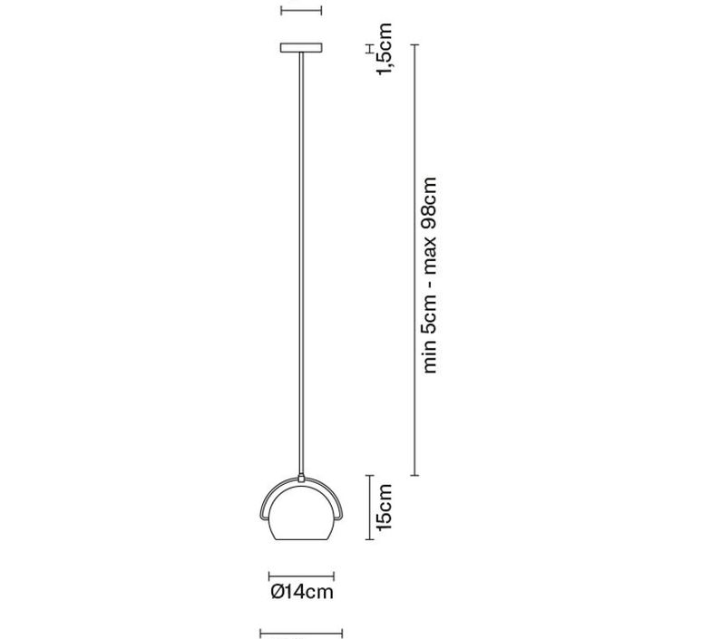 Beluga d57 m marc sadler suspension pendant light  fabbian d57a19 01  design signed 40152 product