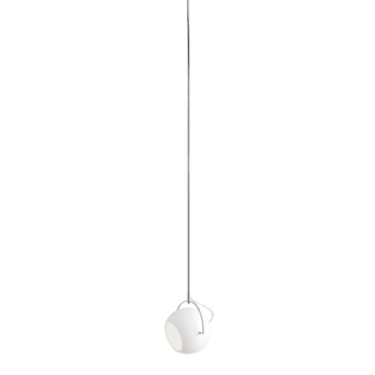 Suspension beluga d57 m blanc l17 6cm h15cm fabbian normal