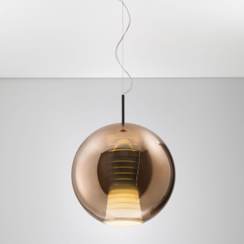 Suspension beluga royal d57 l bronze led o40cm h51cm fabbian normal