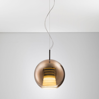 Suspension beluga royal d57 m bronze led o30cm h40 5cm fabbian normal