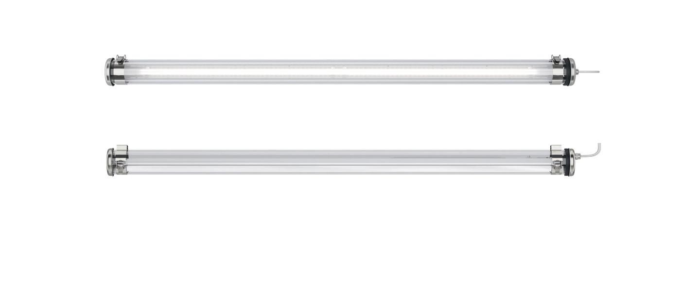Suspension benson 100 argent transparent ip66 led 3000k 1600lm l70 8cm h10cm sammode normal