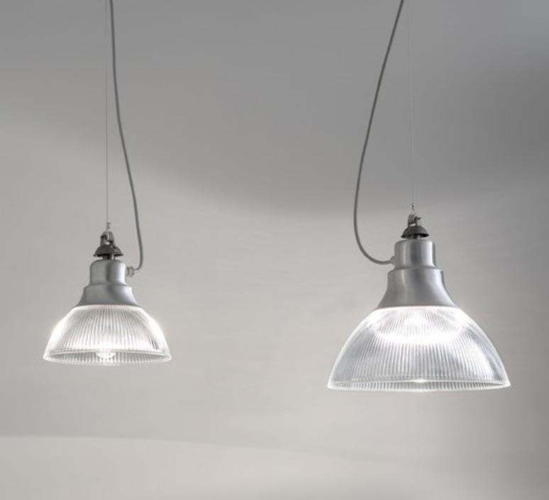 Suspension berlino gris 38cm zava luminaires nedgis for Suspension luminaire gris