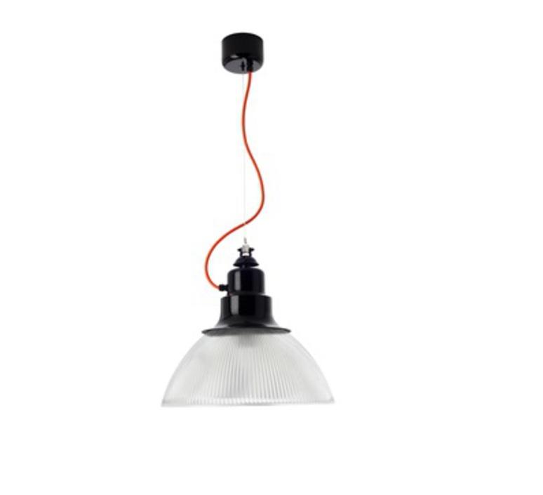 Berlino franco zavarise zava berlino suspension h37cm 9005 black orange rayon luminaire lighting design signed 17475 product