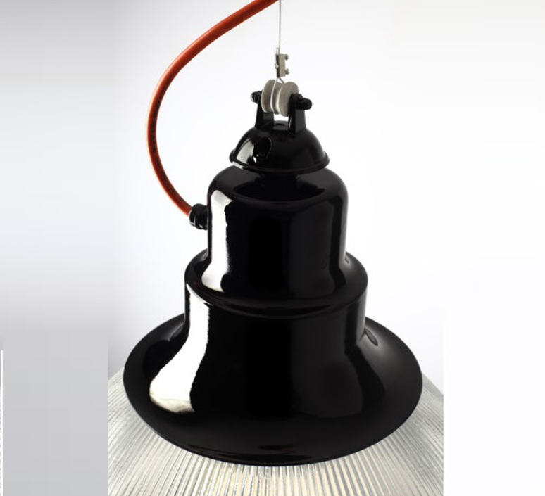 Berlino franco zavarise zava berlino suspension h37cm 9005 black orange rayon luminaire lighting design signed 17477 product